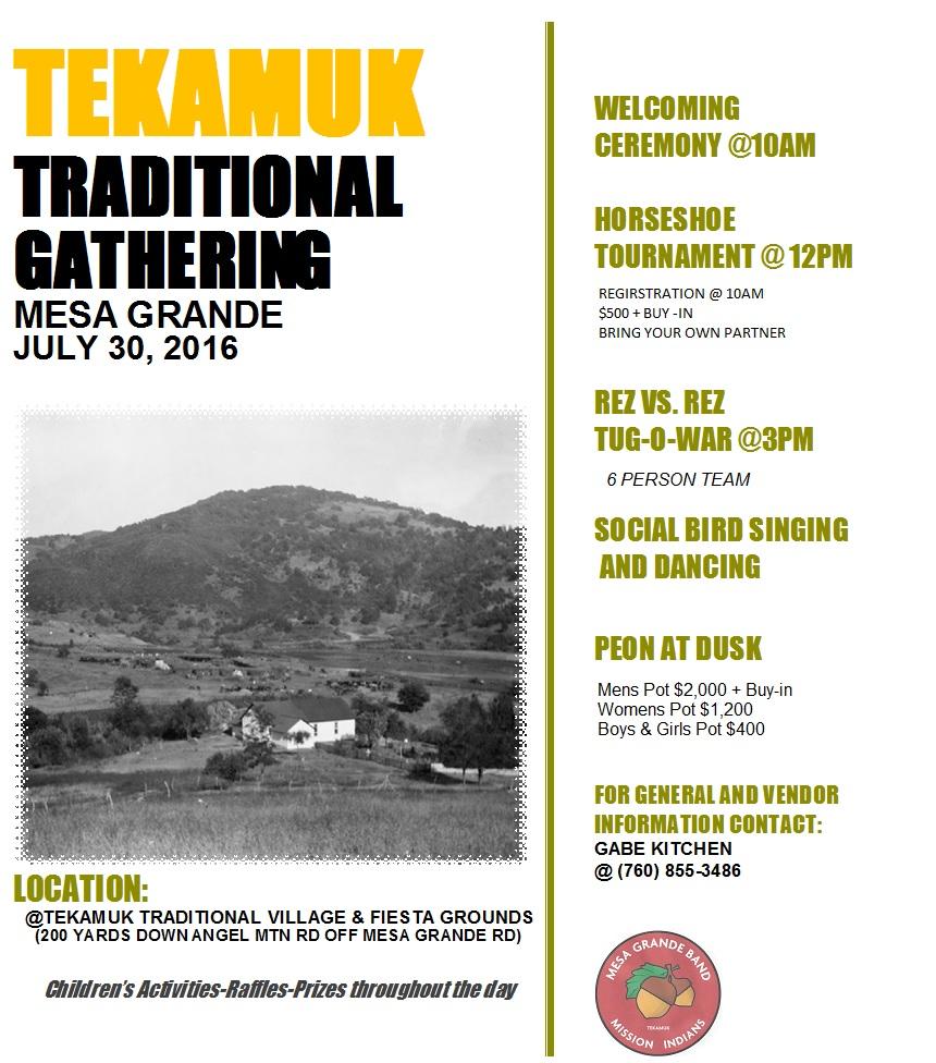 Mesa Grande Gathering